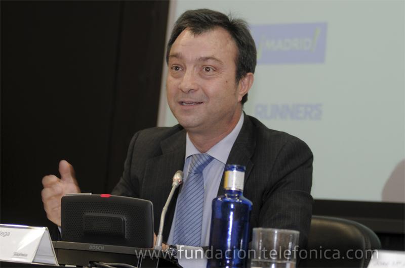 Manuel Cobo, vicealcalde de Madrid, en su intervención durante la rueda de prensa.