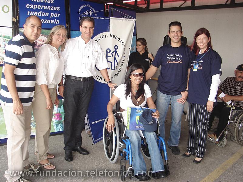 Fundación Telefónica y Funda Pro-Cura ponen a rodar Nuevas Esperanzas por Barquisimeto.