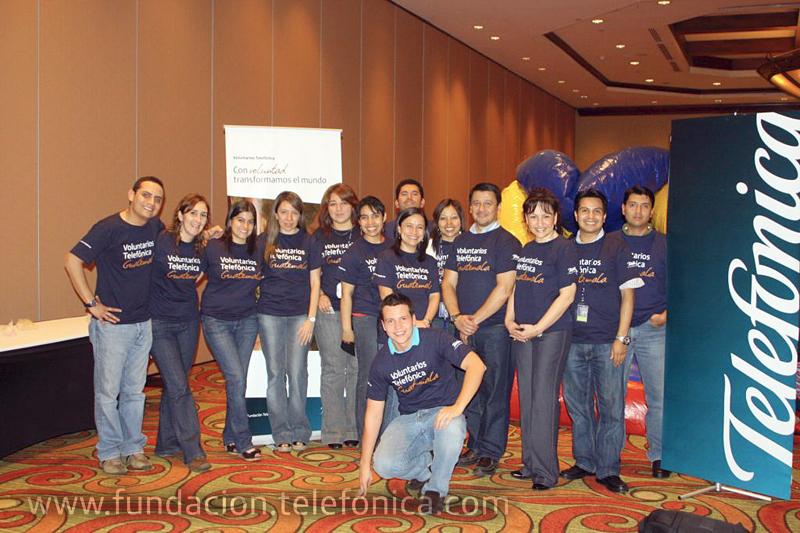 Fundación Telefonica celebra en Guatemala el Día Internacional del Voluntario.
