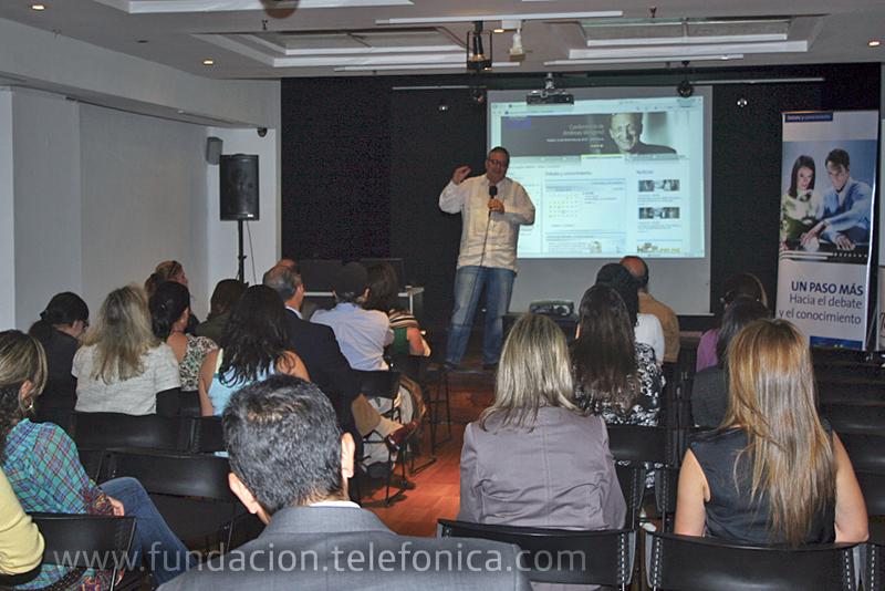 Fundación Telefónica dio a conocer los alcances de su programa Debate y Conocimiento durante una presentación en la Sala Cabrujas del Centro Cultural Chacao.
