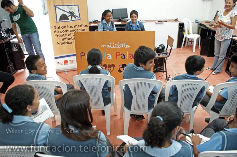 Fundación Telefónica, a través de su programa Proniño realizó un taller de periodismo titulado Pido la Palabra, el cual fue dirigido a niños y niñas beneficiados por el programa.