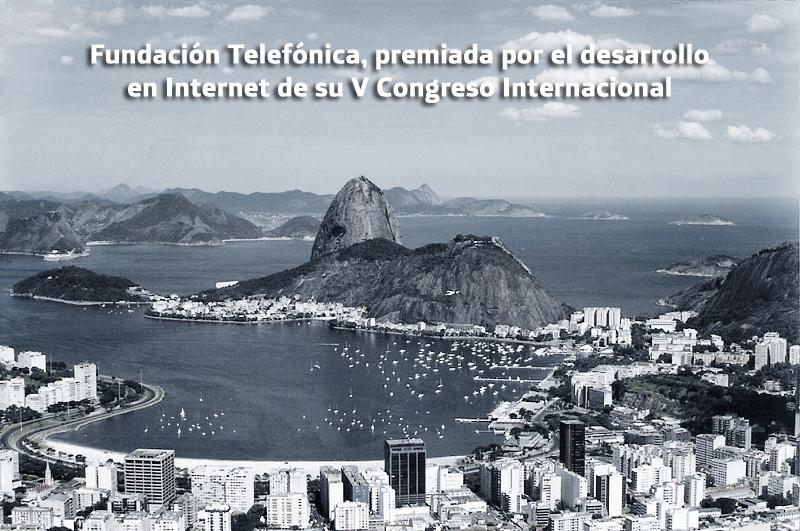 Fundación Telefónica, premiada por el desarrollo en Internet de su V Congreso Internacional.