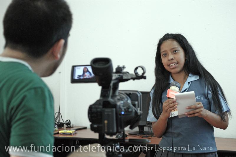 Fundación Telefonica organiza taller de periodismo para niños
