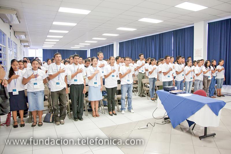 Jóvenes durante el lanzamiento de Programas Sociales para Jóvenes el pasado 20 de noviembre.