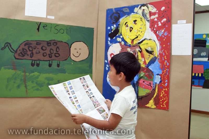 La Exposición de Arte organizada por Fundación Telefónica se llevó a cabo bajo el marco del programa CompARTE, el cual promueve el desarrollo de habilidades artísticas de los niños beneficiados por el programa Proniño.