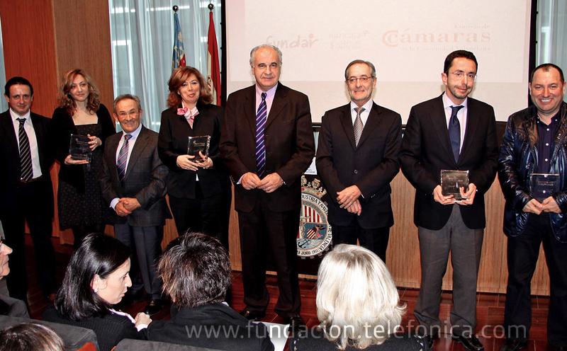 El Presidente de Fundar junto a los representantes de 4 empresas ENGAGE Valencia, Iberdrola, Barclays, SAV, y Grupo Pikolinos.