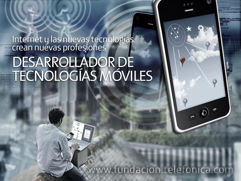 """Octava jornada del ciclo de conferencias """"Internet y las Nuevas Tecnologías crean nuevas profesiones"""" dedicada al desarrollador para tecnologías móviles."""