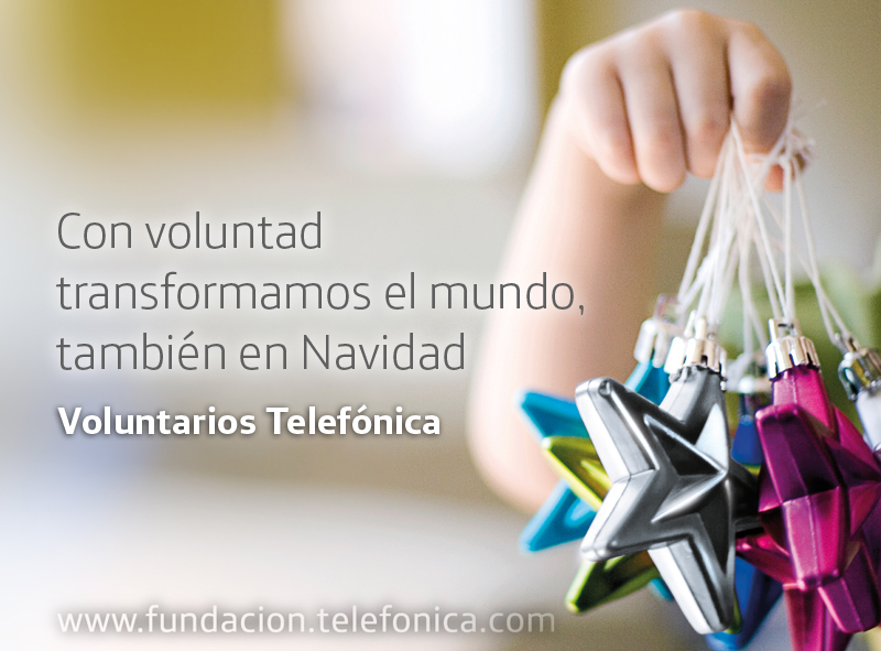 Éxito en la campaña de Navidad de Voluntarios Telefónica.