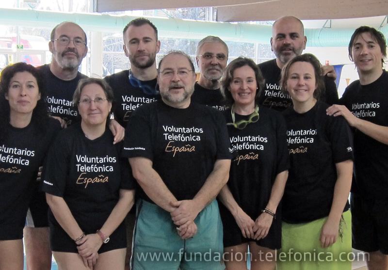 Voluntarios Telefónica apoyaron el Campeonato de Natación Special Olympics Madrid 2011.