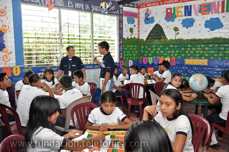 La sala de nivelación de la escuela Sabana San Juan Arriba.