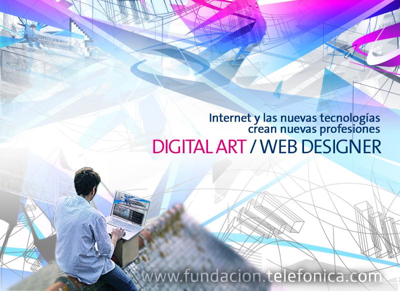 """Digital Art / Web designer. Novena jornada del ciclo de conferencias """"Internet y las Nuevas Tecnologías crean nuevas profesiones"""""""