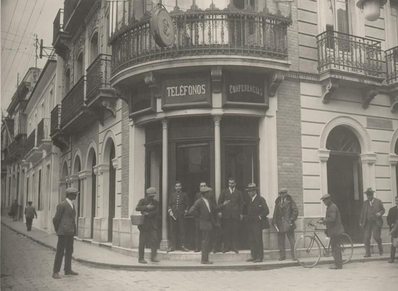 Fachada de la Central Interurbana, Huelva © Marín, 1928.