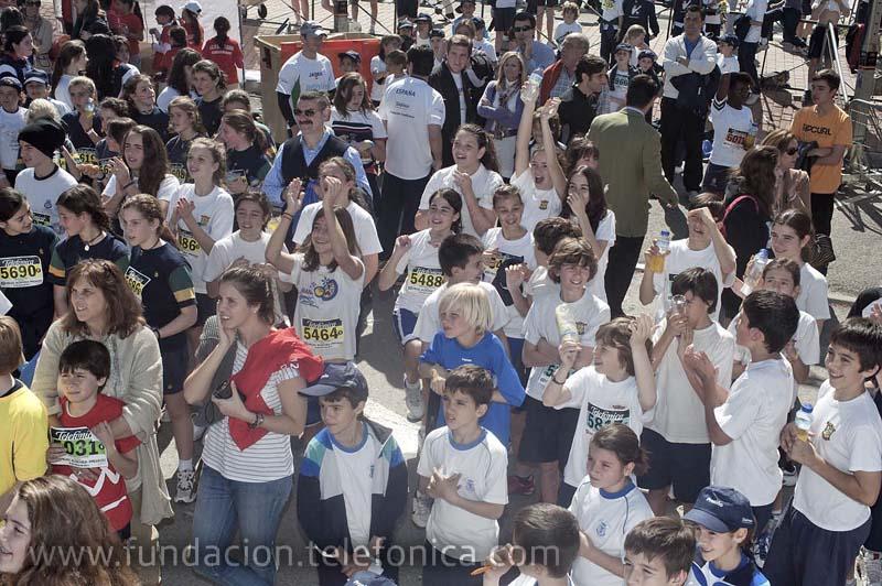 Más de 8.000 escolares participaron el pasado viernes 18 de marzo en la 31 edición del Cross Aldovea, la mayor carrera escolar que se celebra en España y que este año ha contado con Proniño, el principal programa de acción social de Telefónica, como padrino.