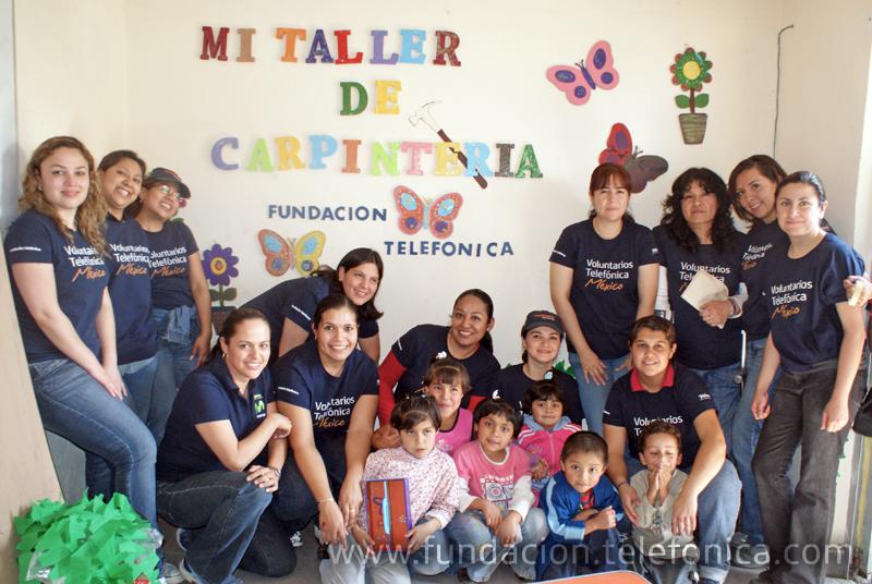 """Los Voluntarios transformaron un espacio de la casa Hogar """"El Mexicanito""""."""
