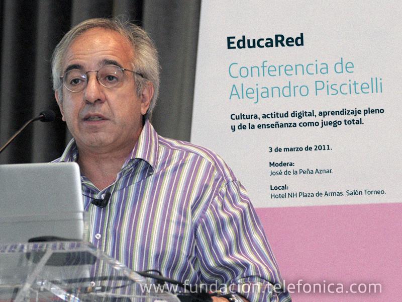 """""""Cultura, actitud digital, aprendizaje pleno y de la enseñanza como juego total"""" es el tema de la charla que dará Alejandro Piscitelli"""