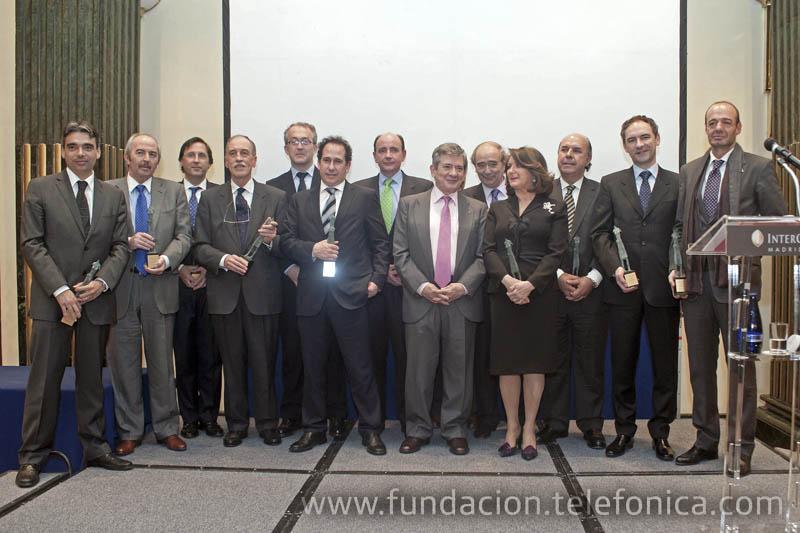 Alejandro Diaz Garreta junto al resto de premiados en la novena edición de los Premios Ciudadanos.