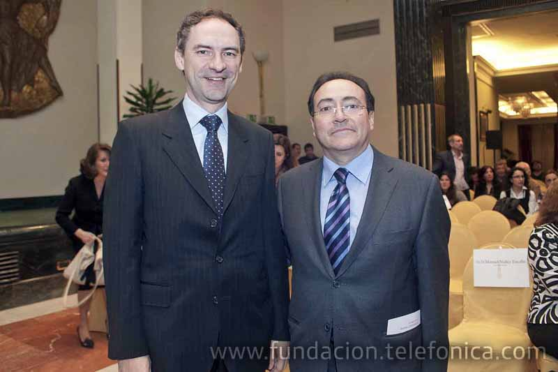 Alejandro Diaz Garreta Director del Área de Voluntariado y Juventud de Fundación Telefónica, junto a José Félix Dones, responsable de Voluntarios Telefónica España.