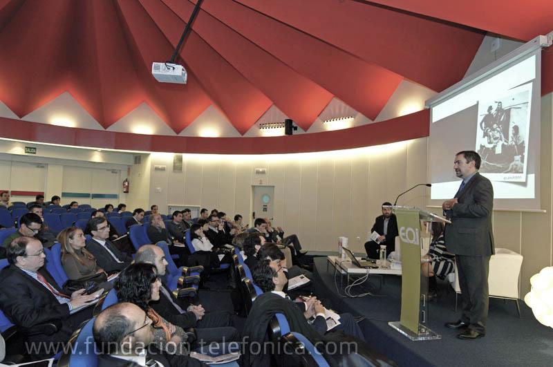 José de la Peña, Director de Educación y Conocimiento en Red de Fundación Telefónica, durante su intervención en la presentación de INprendedores. Experiencias y reflexiones sobre el arte del intraemprendizaje dentro de las organizaciones.