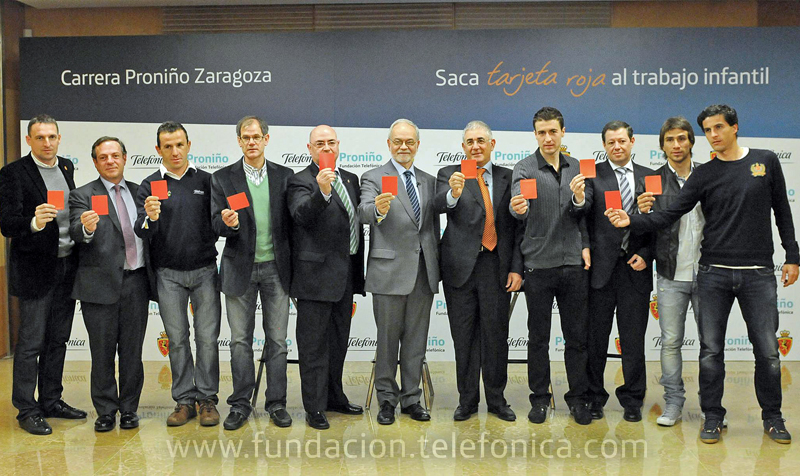 "La Carrera Proniño Zaragoza se va a celebrar bajo el lema ""Saca tarjeta roja al trabajo infantil"""