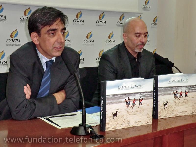De izquierda a derecha: José Manuel del Arco, Director Territorio Este Telefónica; Joan Cruz, Director de Coordinación Territorial de Fundación Telefónica