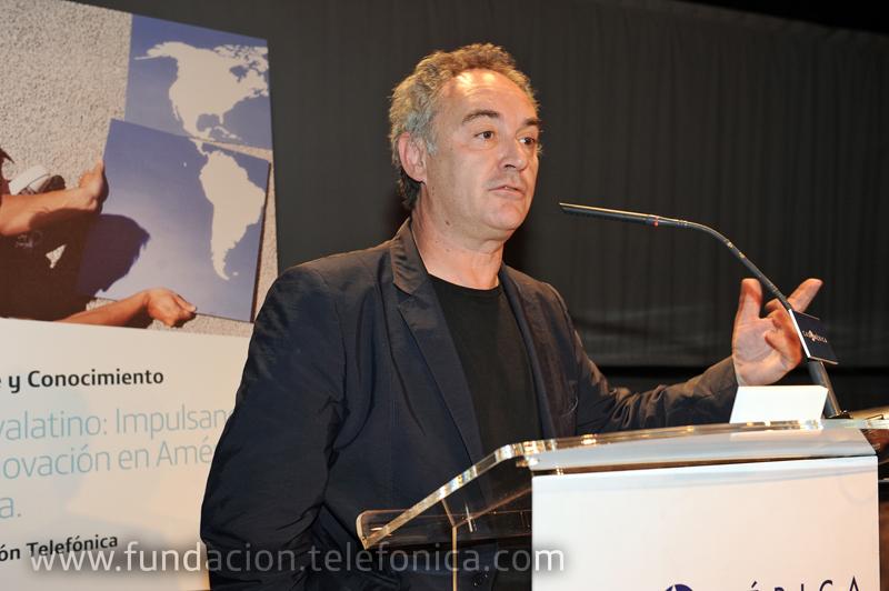 Ferran Adrià, durante su ponencia