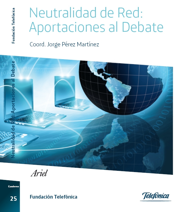 """Portada del libro """"Neutralidad de red: aportaciones al debate""""."""