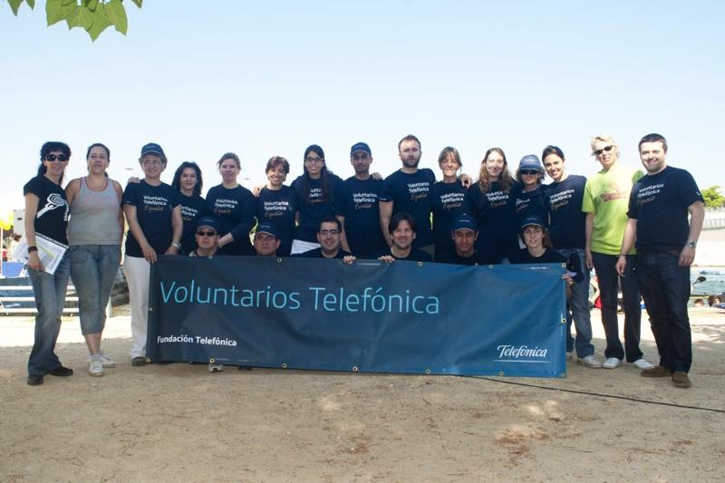 La Fiesta de la Primavera celebrada el sábado 21 de mayo ha sido la séptima edición de este evento en el que han participado voluntarios de Telefónica, dentro del marco de actuaciones del programa de voluntariado corporativo de Telefónica en España.