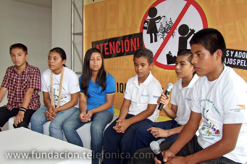 Niños, niñas y adolescentes del país se unen en un mismo lema para defender su derecho a la NO Explotación Económica.