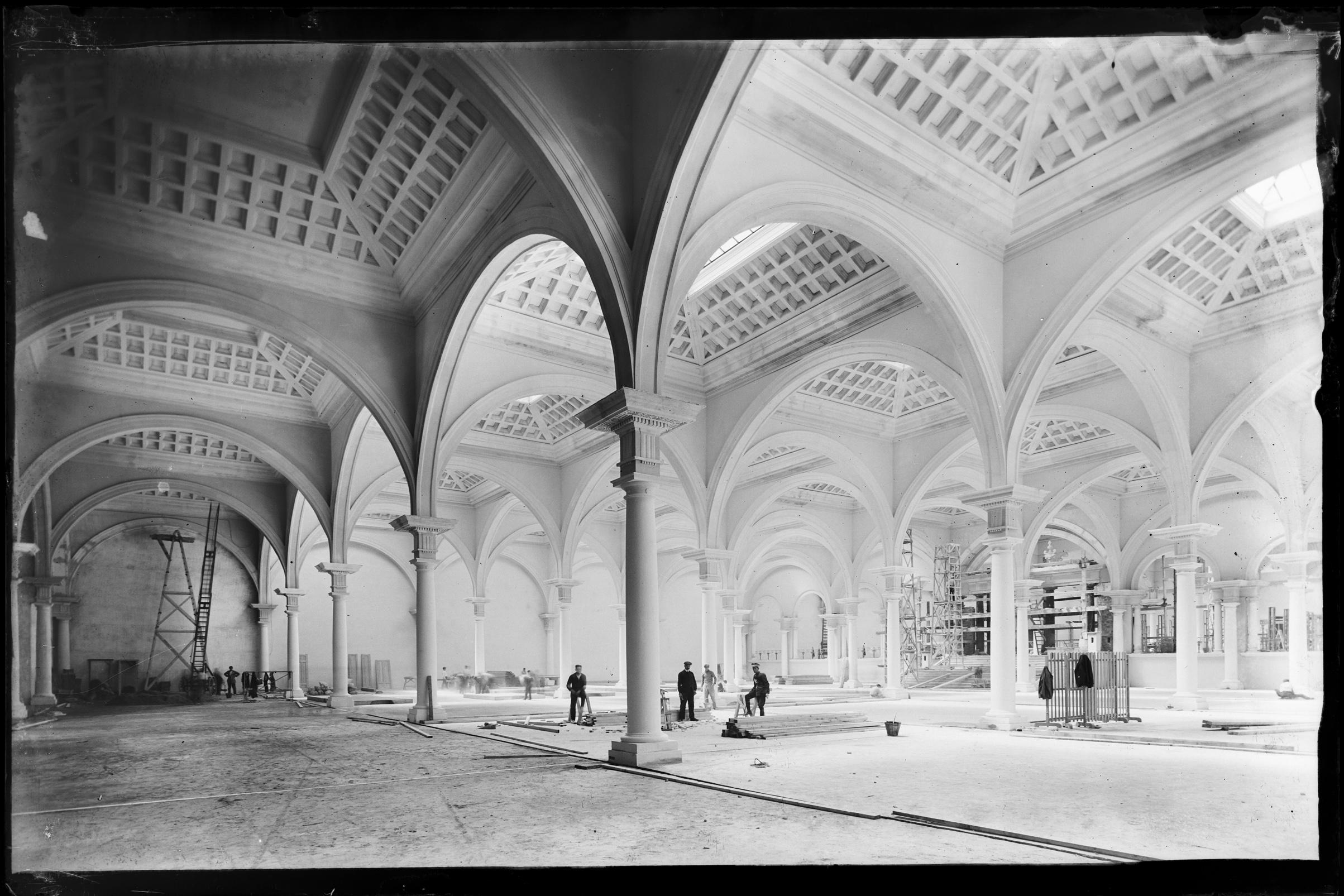 Palacio de la Industria, construido para la Exposición Internacional de Barcelona de 1929. Montjüic, 1920-1922 © Fondo BRANGULÍ, ANC