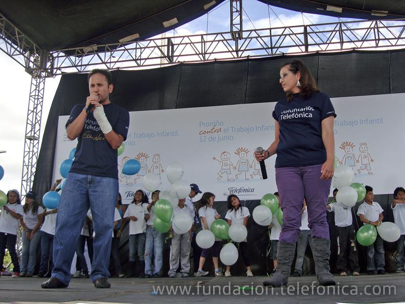 Voluntarios Telefónica participaron en este evento cantando