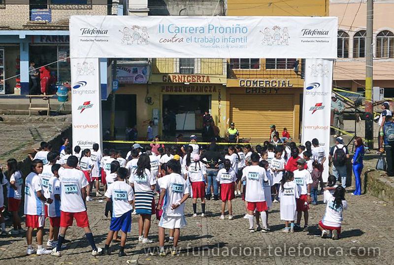 Fundación Telefónica organiza la carrera más larga contra el Trabajo Infantil.