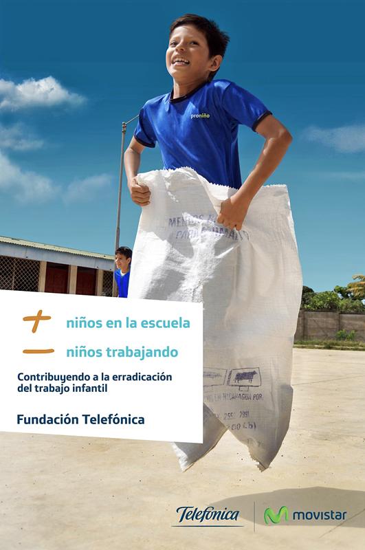 Proniño de Telefónica se une a la conmemoración del Día Mundial Contra el Trabajo Infantil que se realiza este 12 de junio