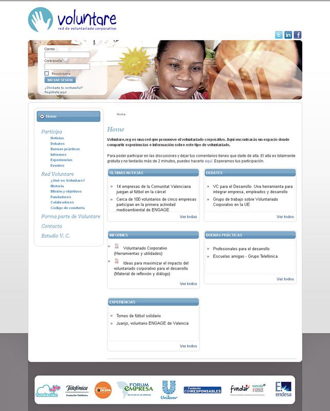 El próximo 5 de julio se presentará en el auditorio de la Tienda de Telefónica, en Gran Vía, 28, el portal de Internet de Voluntare www.voluntare.org, la red internacional de voluntariado corporativo a la que pertenece Telefónica, a través de su programa de voluntariado, desde hace dos años