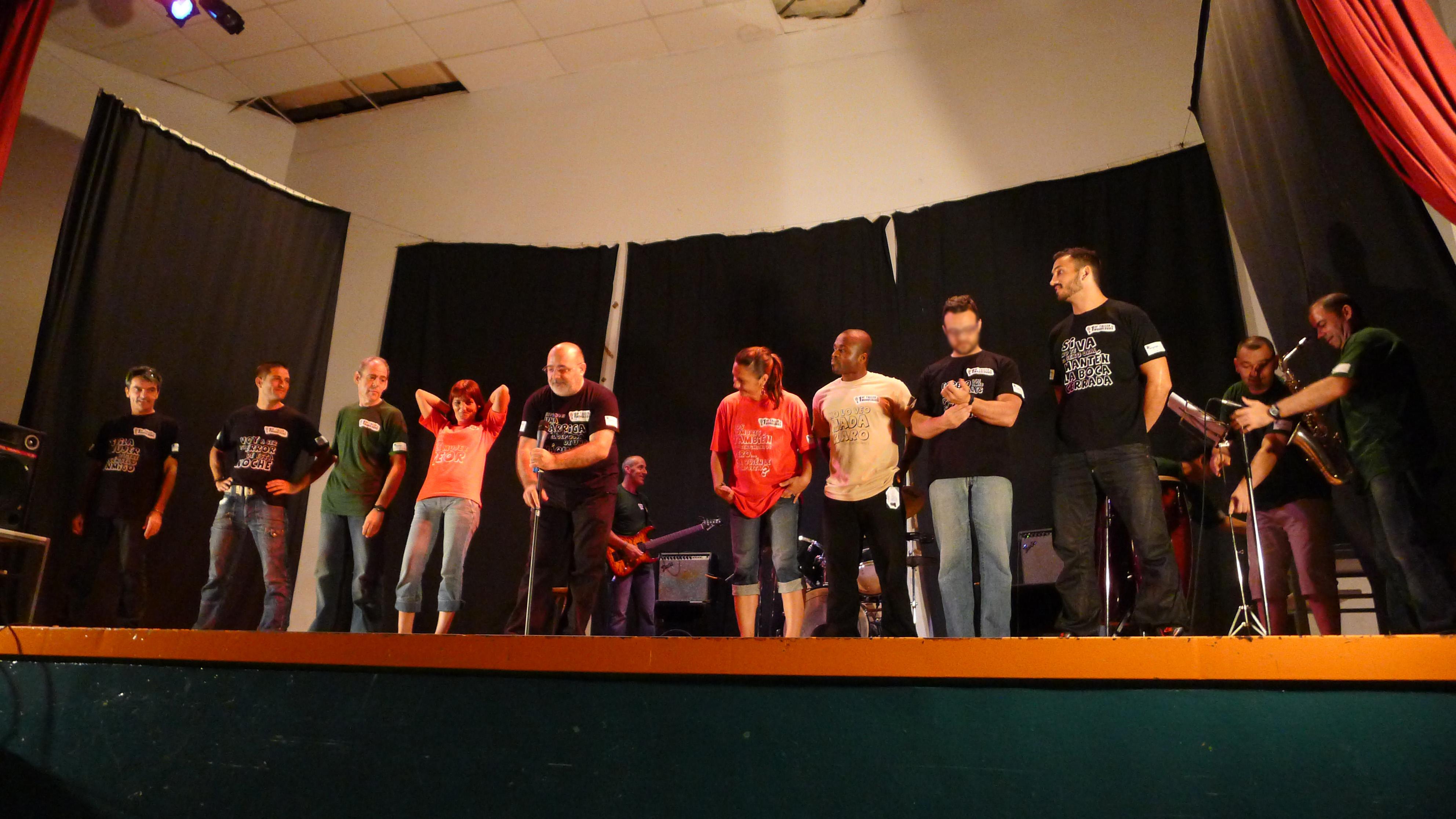 Voluntarios Telefónica ha formado a los monologuistas durante más de dos meses para la actuación final.