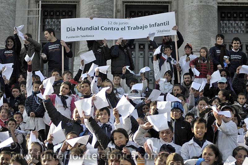 La jornada de concienciación contra el trabajo infantil se llevó a cabo en el Palacio Legislativo de Uruguay.