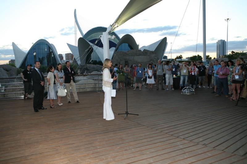 Inauguración de EducaParty en el Oceanográfic de Valencia. En la imagen, Marián Juste, Directora Adjunta de EducaRed