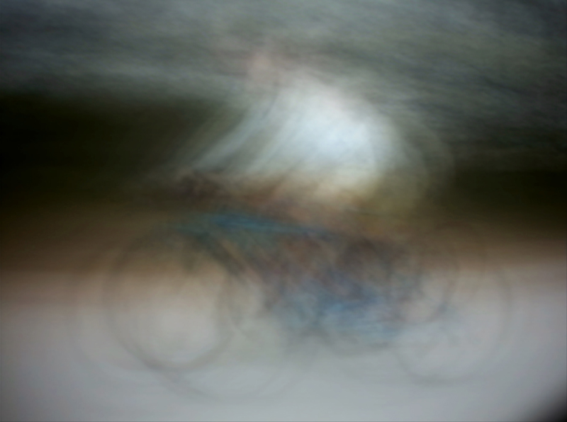 Jim Campbell. Dynamism of a Cyclist.