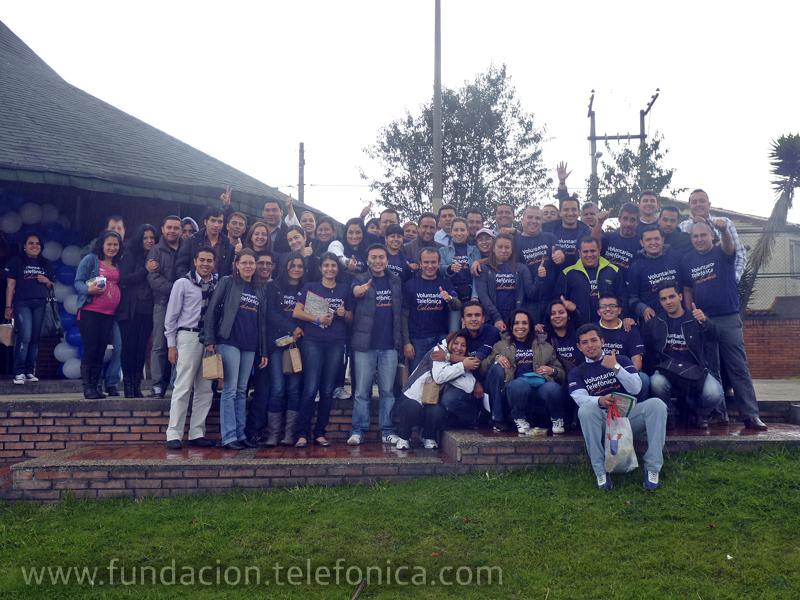 255 Voluntarios Telefónica colombianos entregaron 5 ludotecas en escuelas de Bogotá, Bucaramanga, Barranquilla y Cali