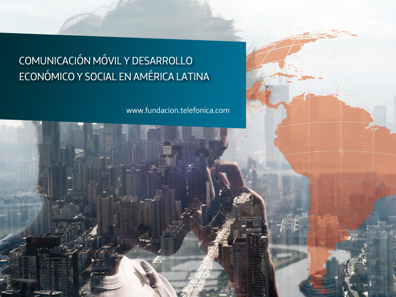 """Portada del libro """"Comunicación móvil y desarrollo económico y social en América Latina"""", de Manuel Castells."""