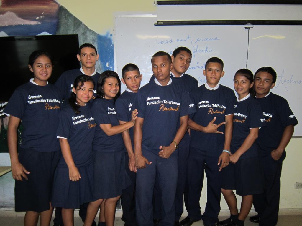 En el taller tomaron parte once integrantes de la Red de Jóvenes Fundación Telefónica en Panamá.