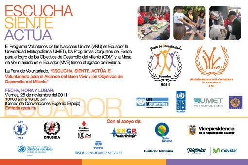 Fundación Telefónica presenta Escuelas Amigas en la primera feria organizada por la Unidad de Voluntarios de las Naciones Unidas (ONU) en Ecuador