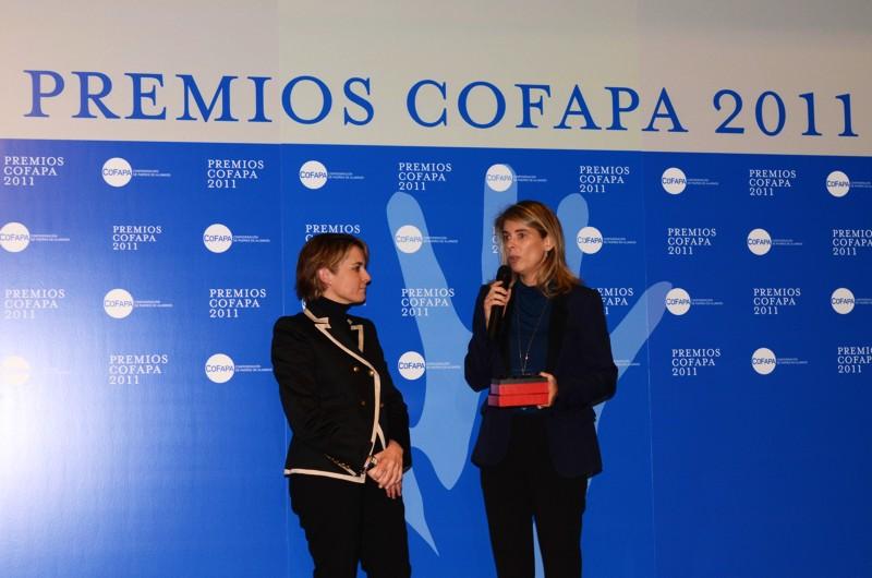 Marián Juste recogió el premio concedido por COFAPA