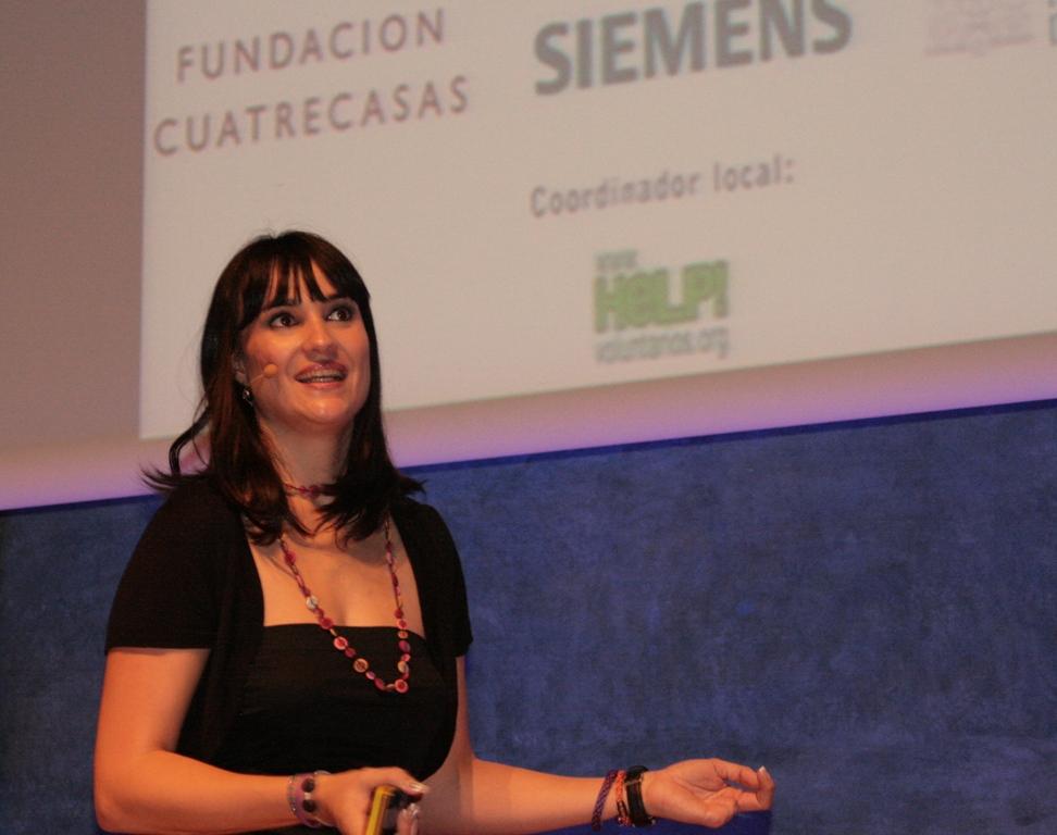 Irene Villa durante su intervención en el Congreso