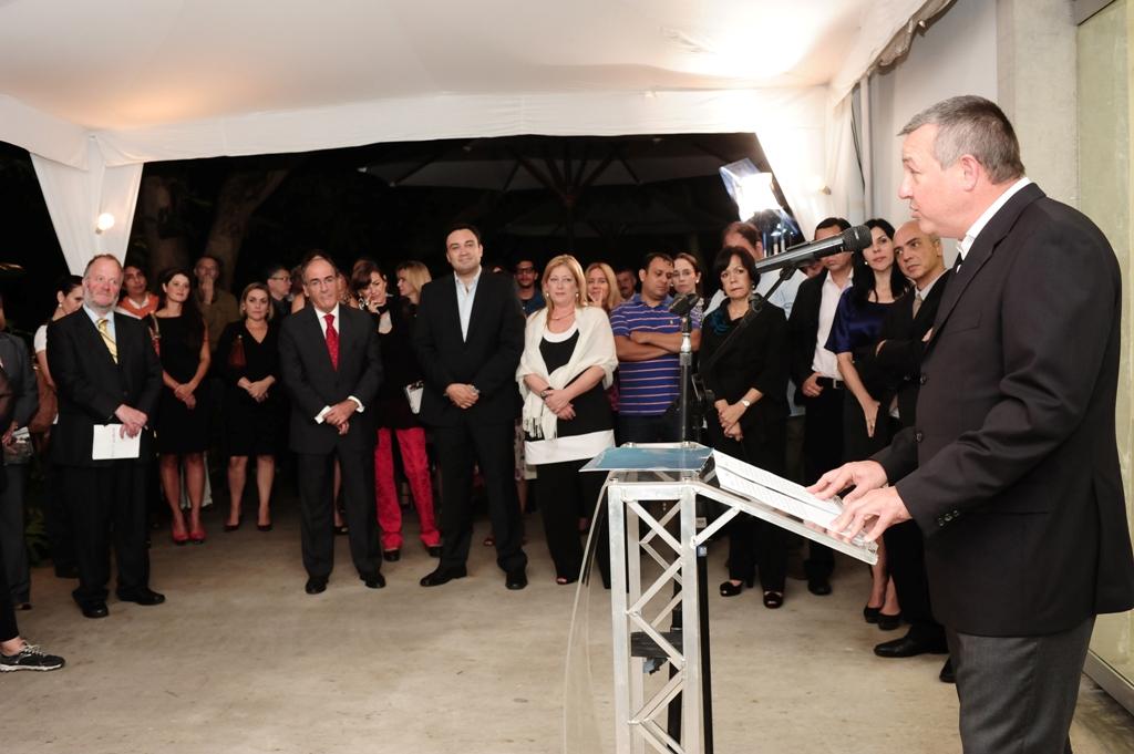 Michael Duncan, Presidente de Telefónica Venezuela durante la pre-inauguración en Periférico Caracas.