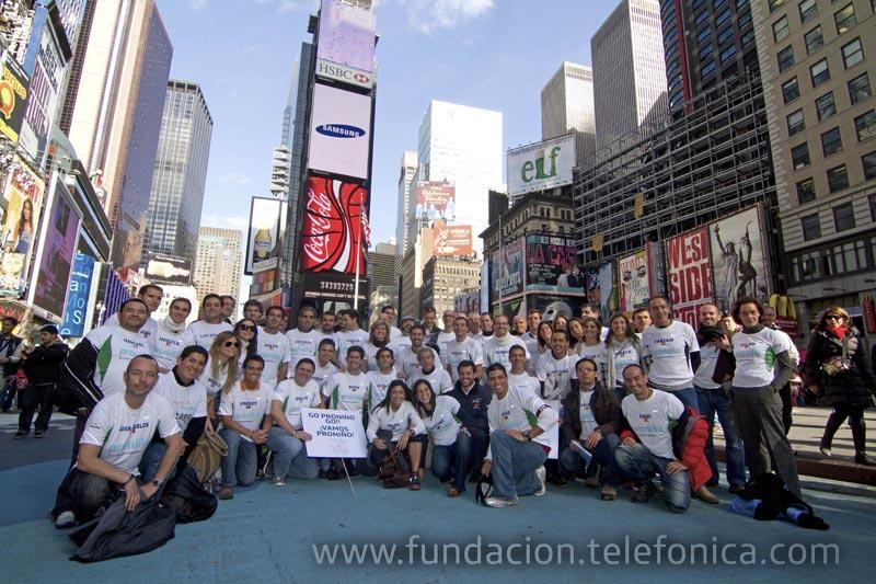El equipo Proniño en el Maratón de Nueva York 2010.