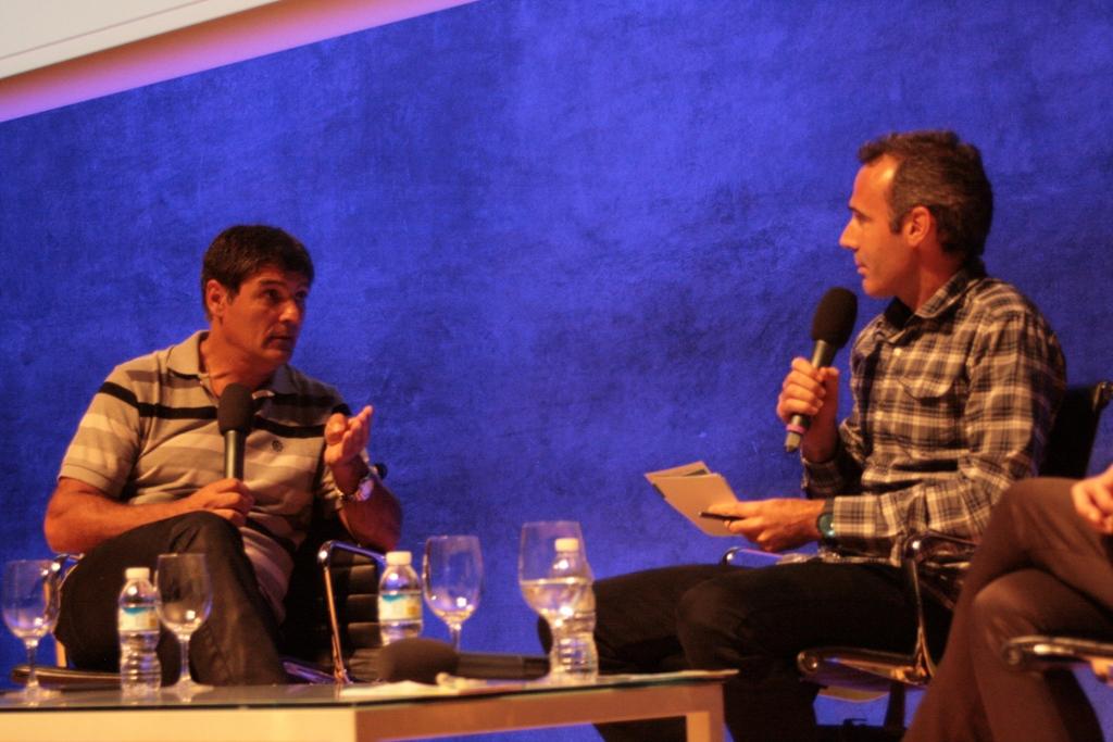 Toni Nadal junto al tenista Alex Corretja