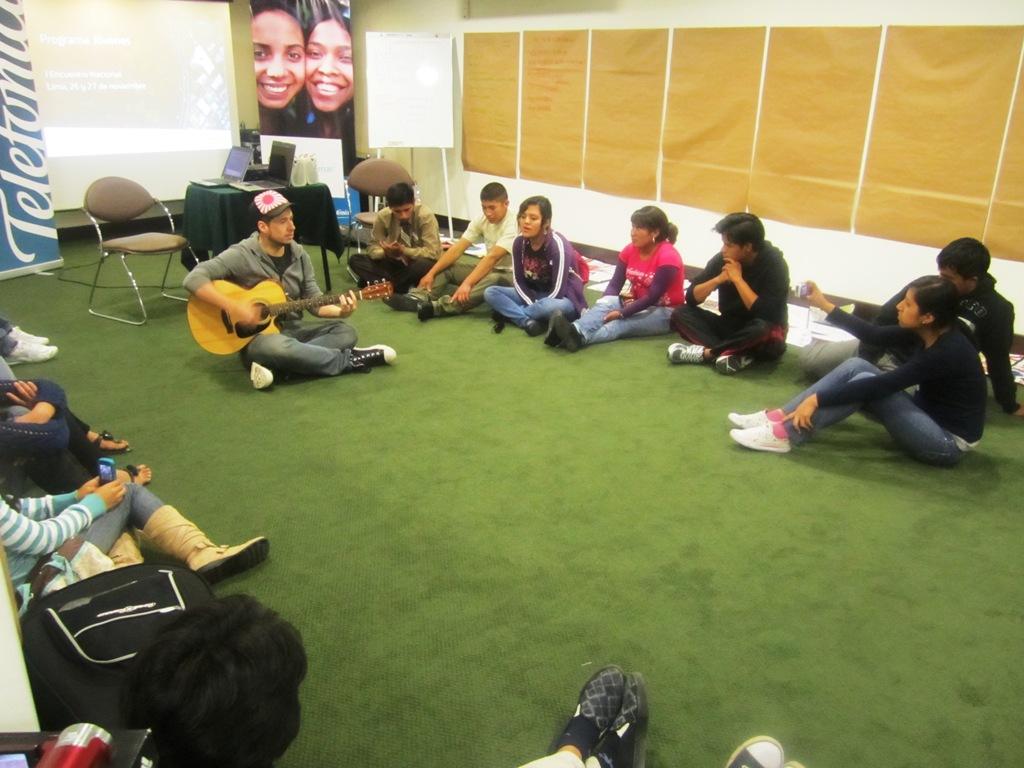 Camo participó en el I Encuentro Nacional de Jóvenes Perú