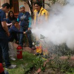El equipo de Protección Civil de Telefónica instruyó a 150 pequeños en la prevención y reacción ante siniestros.