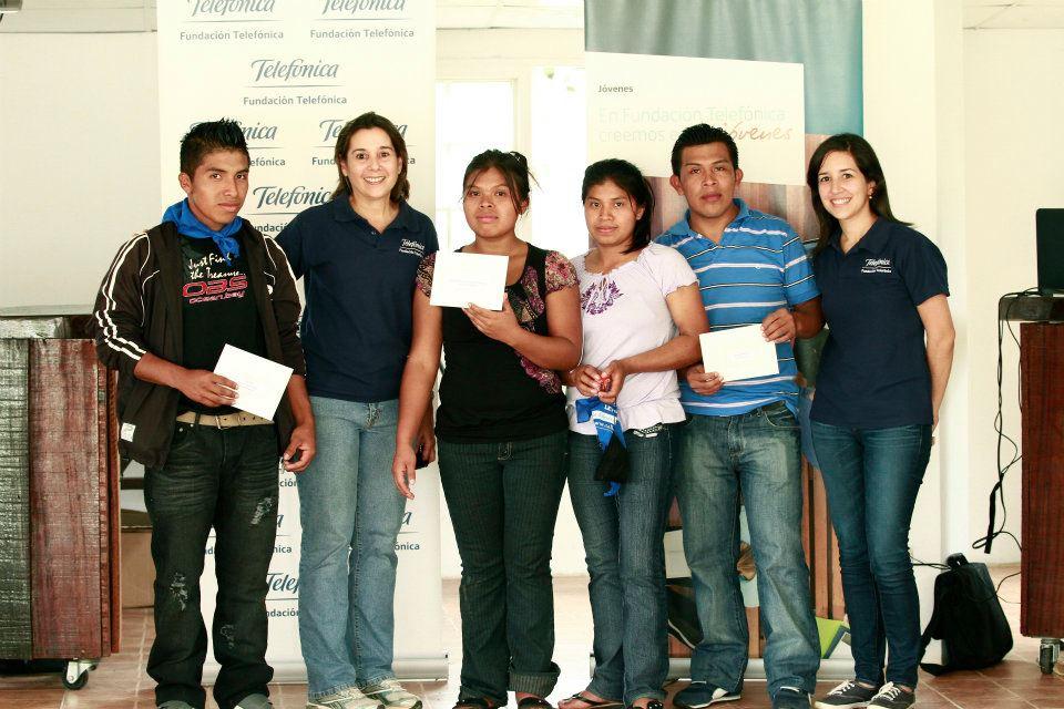 Esther Palacio, Luisa Palacio, Jaime Flores, Aquilino Jiménez y Herminio Palacio   fueron los cuatro jóvenes que con buenos argumentos, buenas ideas y un adecuado plan de negocio, convencieron al jurado.