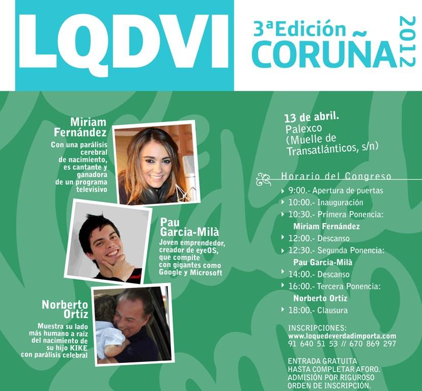El evento que contará con la participación de la cantante con parálisis cerebral Miriam Fernández, el joven emprendedor Pau García-Milà y el cantante y presentador Norberto Ortiz, más conocido como Bertín Osborne